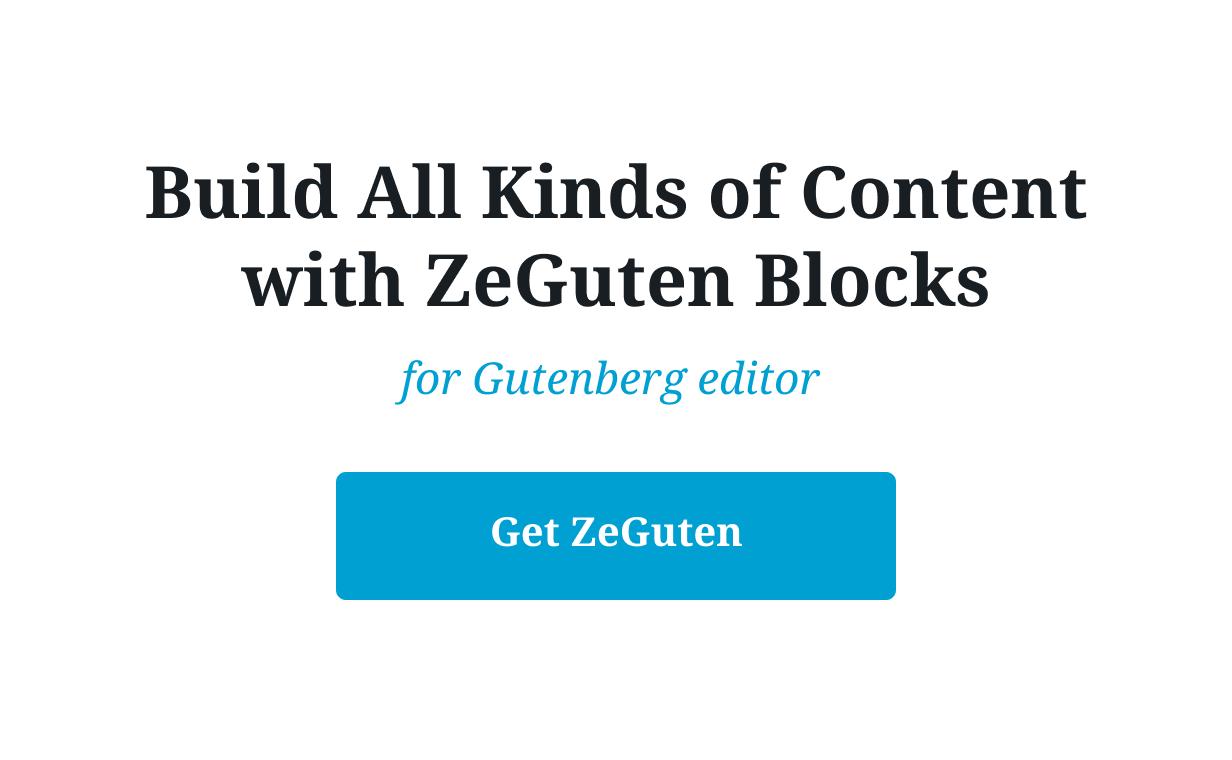 ZeGuten — Blocks for Gutenberg - 8